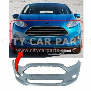 FORD FIESTA 2013 TO 2017 FRONT BUMPER PRIMED INSURANCE APPROVED HIGH QUALITY NEW